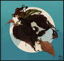 broomstick by Araniel