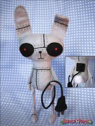 Robot Bunny by BibelotForest