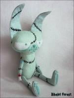 Zombie Bunny by BibelotForest