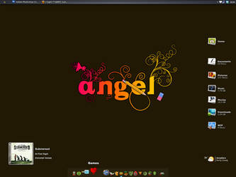July Desktop: Angel by grevenlx