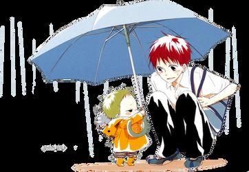 Gakuen Babysitters render by KamitaniKousaki