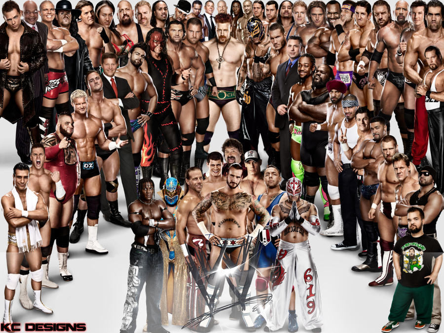 WWE Superstars Wallpaper by KCWallpapers