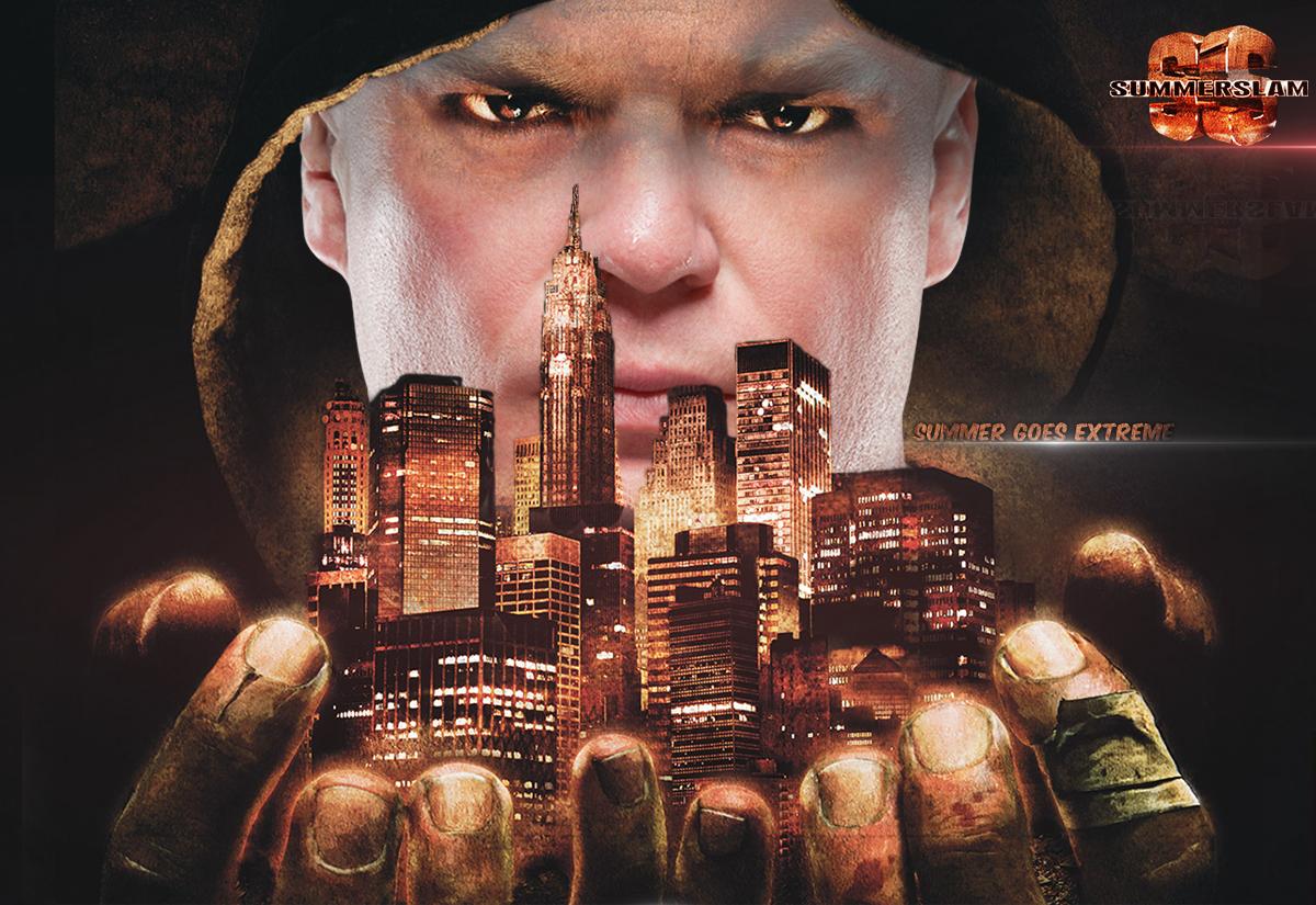 WWE Summerslam Wallpaper 2013 Featuring Lesnar By KCWallpapers