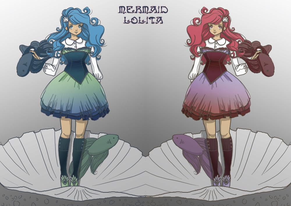 http://melodymoore.deviantart.com/art/Mermaid-Lolita-170233613