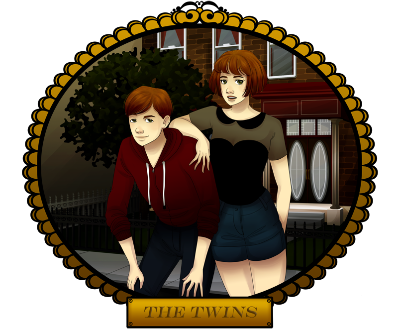 Promo Art: The Twins.  Murder Myster VN/Sim. by MelodyMoore