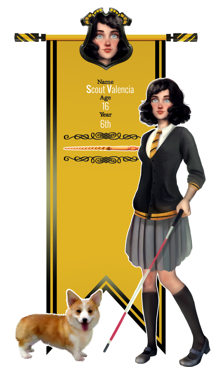 Scout Valencia: Hufflepuff Illegibilus Application by MelodyMoore