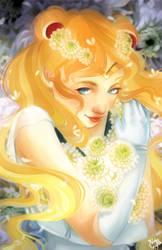 Sailor Moon - White Chrysanthemums