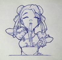 Hungry Chun Li~ by nanto-n