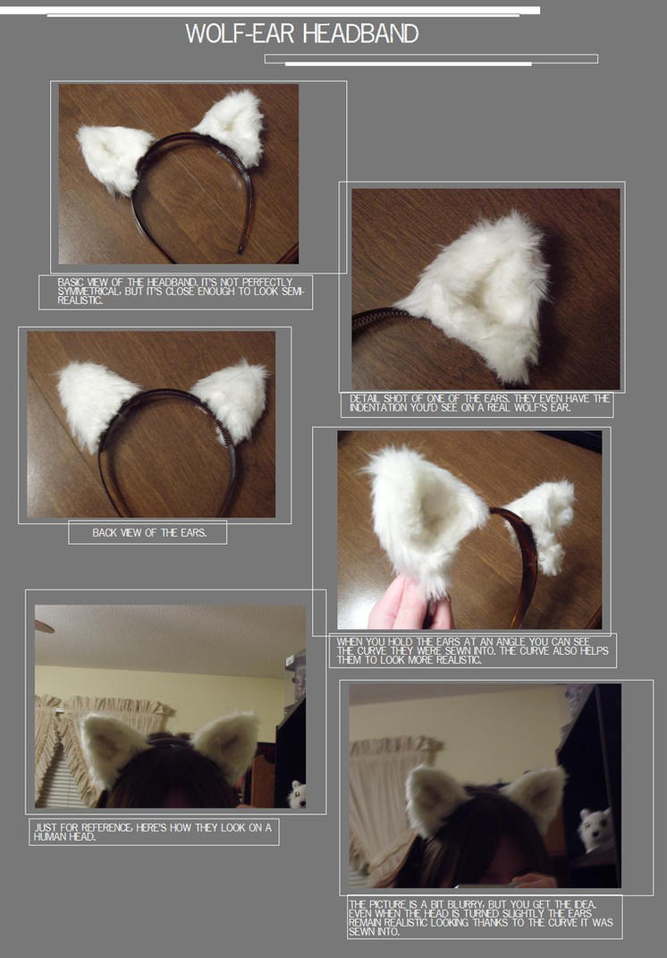 Wolf-ear Headband by Adelheid-AI