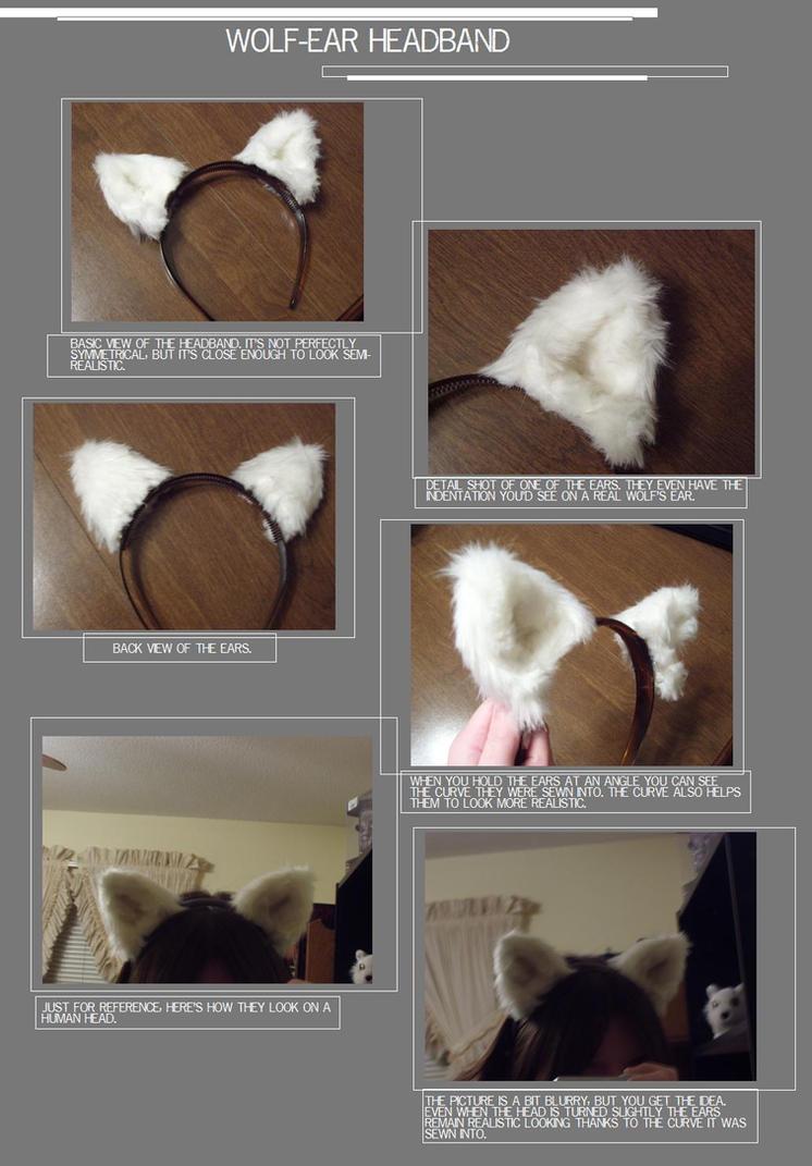 Wolf-ear Headband by Adelheid-AI