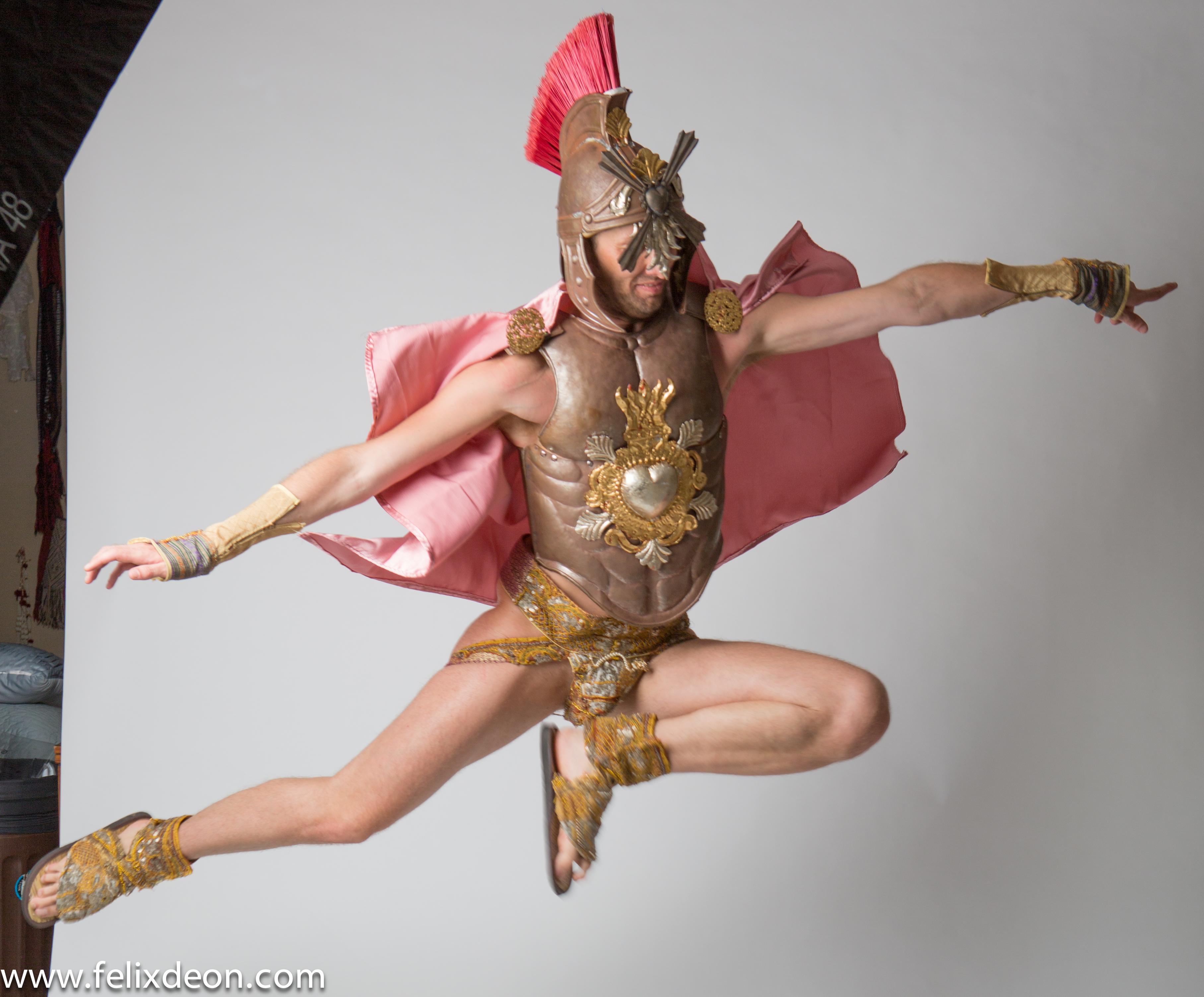 Flying Roman Warrior 2 by TheMaleNudeStock