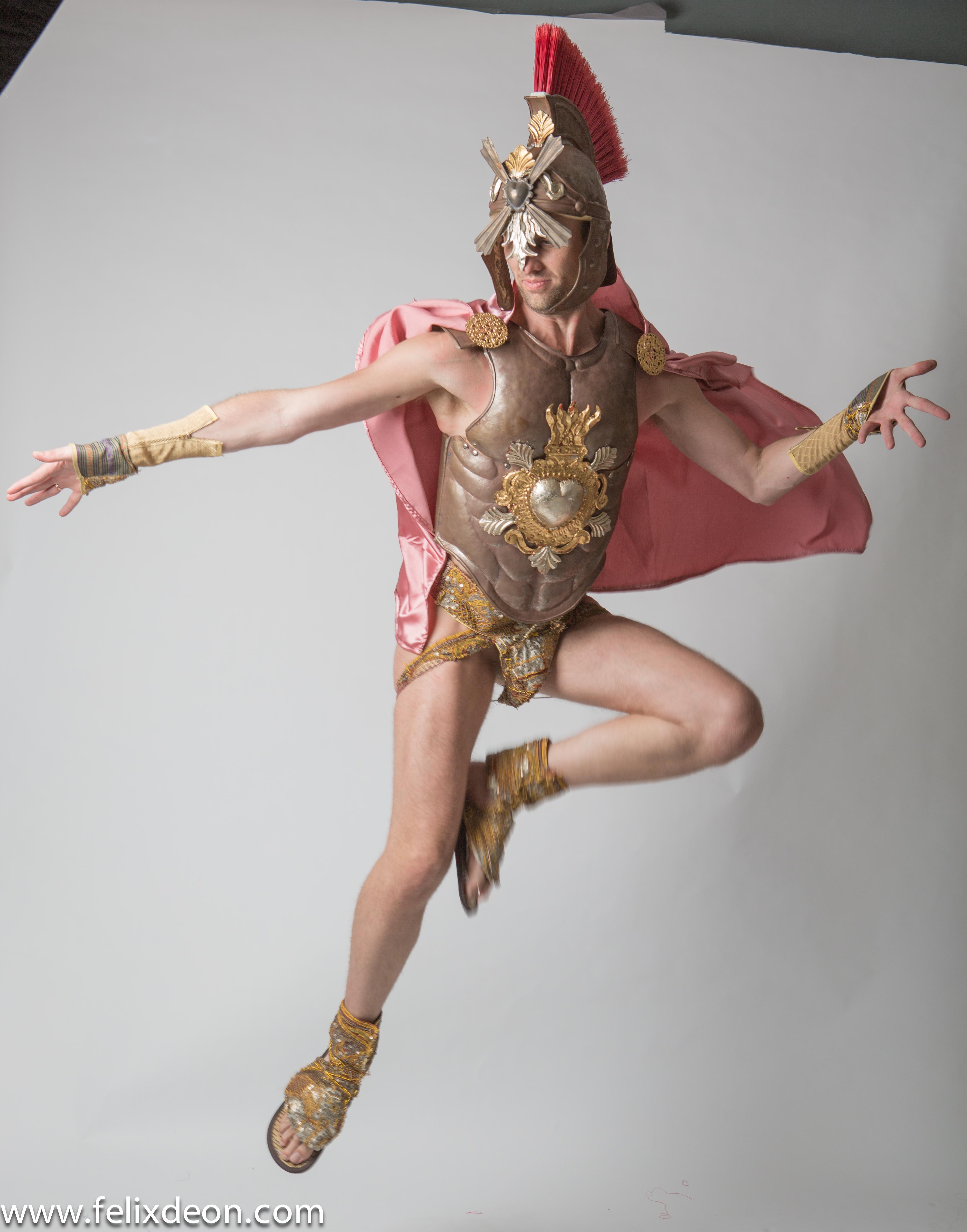 Flying Roman Warrior 1 by TheMaleNudeStock
