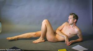 reclining male nude 3
