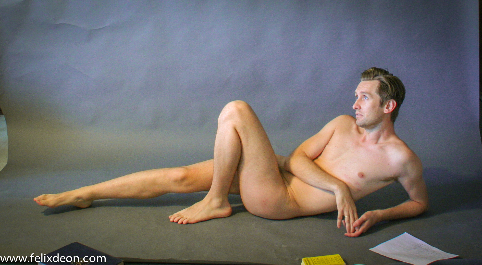 reclining male nude 3 by TheMaleNudeStock