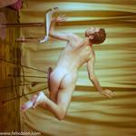 Flying Male Nude