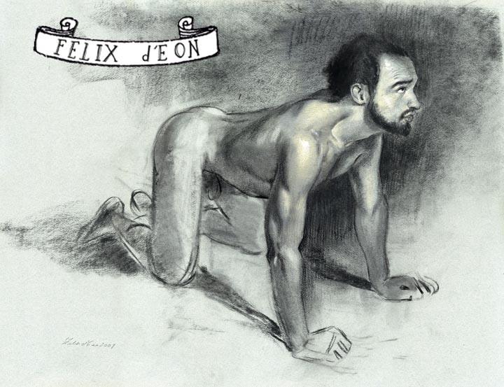 Kneeling Nude Male by TheMaleNudeStock