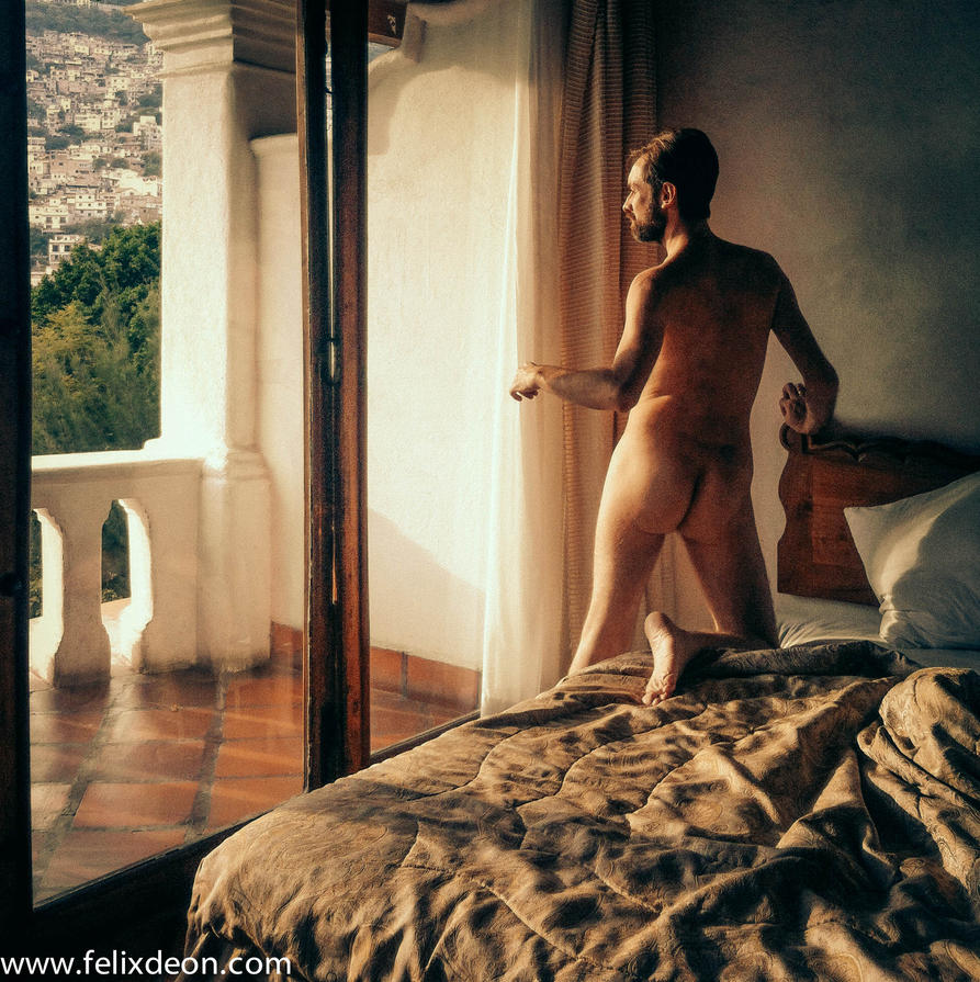 male nude in Taxco Hotel 1zss by TheMaleNudeStock