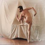 Nude Male Stock standing back sculptural pose