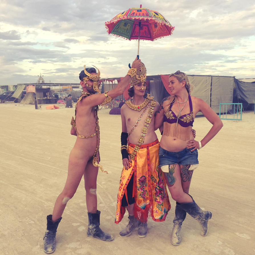 from Zayn carrie at burning man nude