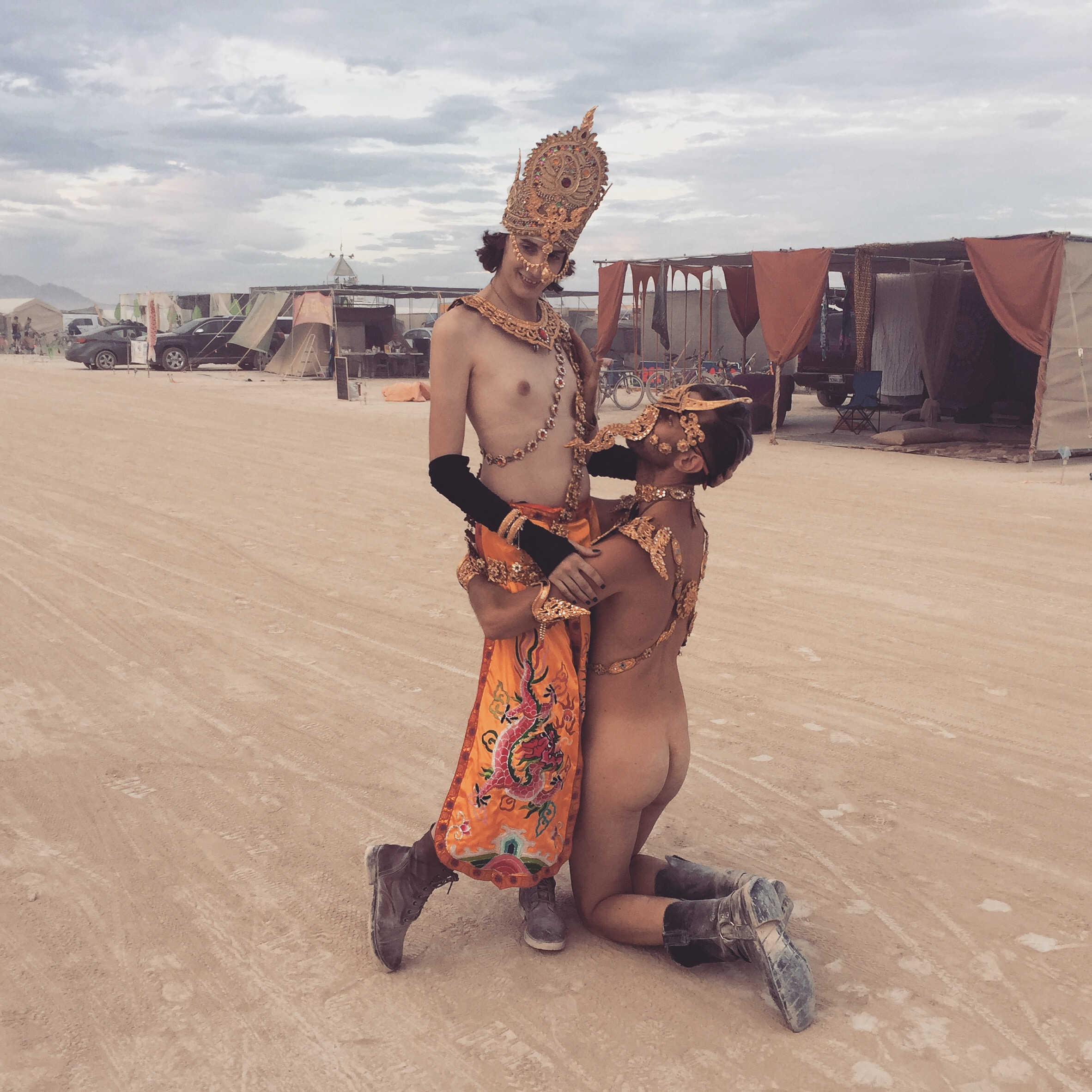 from Jamarion carrie at burning man nude