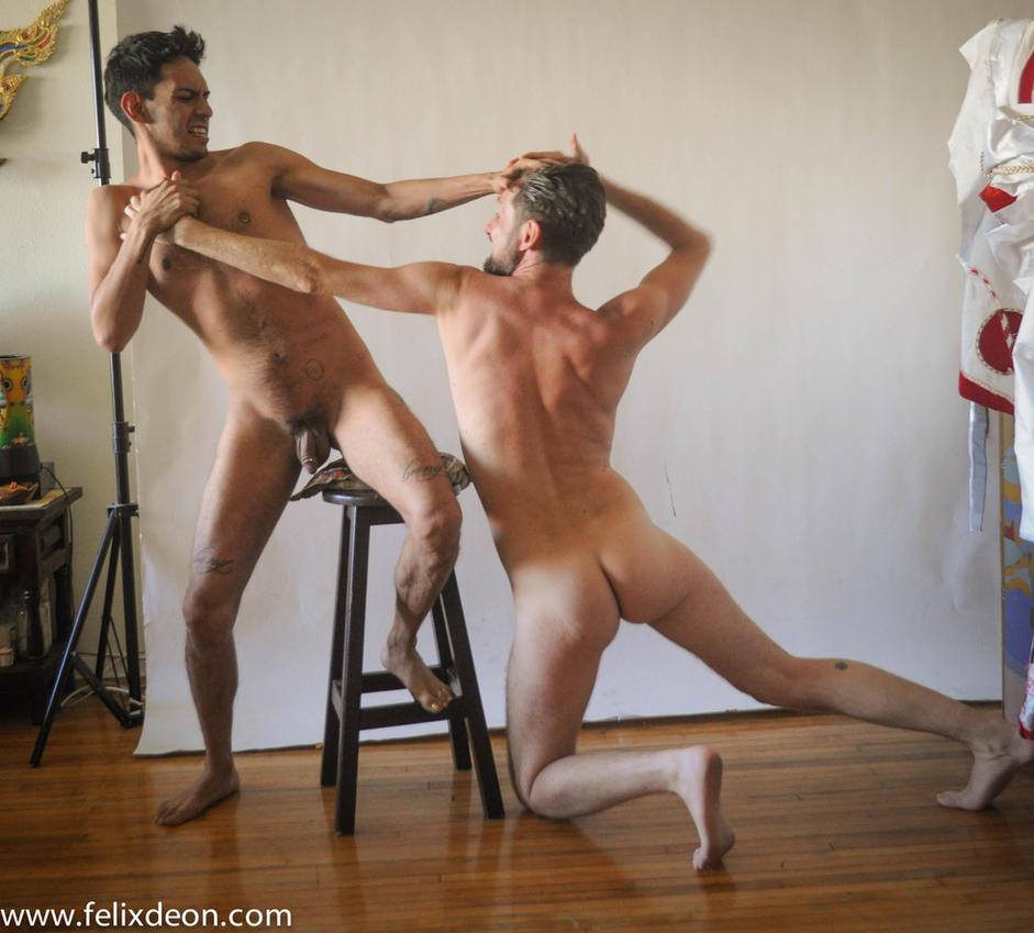 Nude Male Struggle, 11 by TheMaleNudeStock