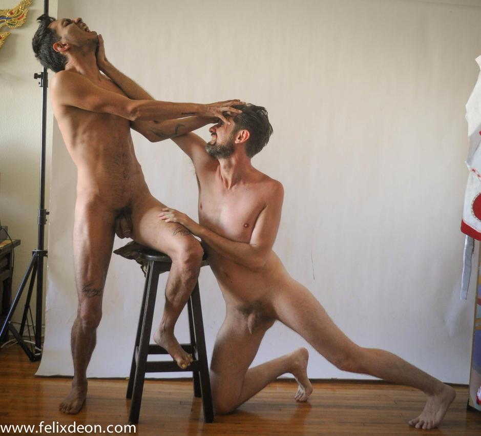 Nude Male Struggle 12 by TheMaleNudeStock
