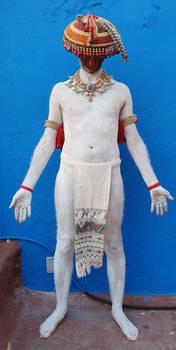 standing man mexica regalia front