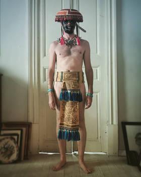 man in maxtlatl and mask front