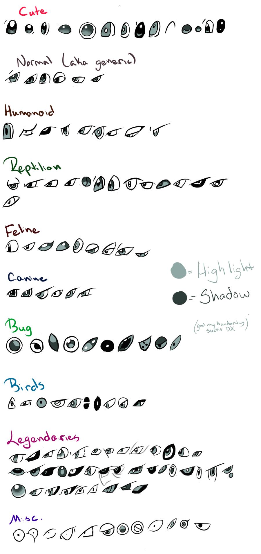 Pokemon Eyes Reference by xXSapphireGaleXx