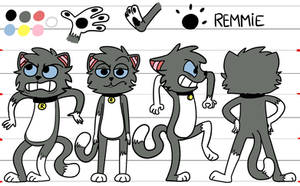 Model sheet- turn around Remmie by RAB-Arts