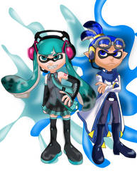 Miku and Kaito Inklings by sonicgirl313