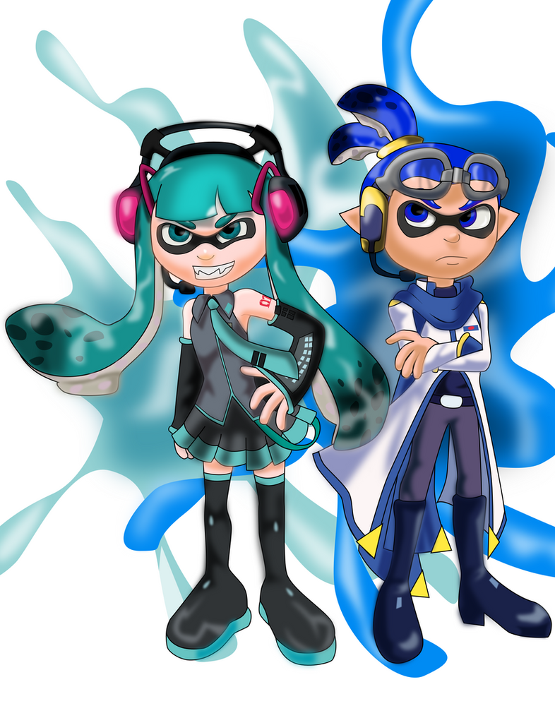 miku and kaito inklings by sonicgirl313 on deviantart