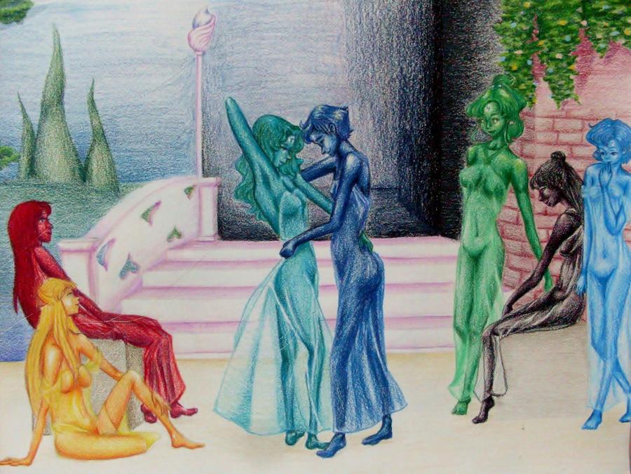 The Princesses Meet by tinystarkitten