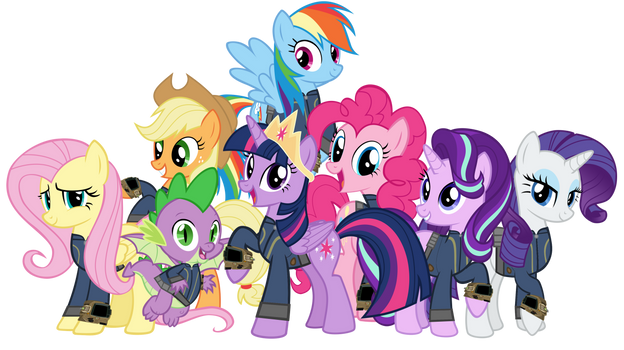 Fallout Equestria - The Mane Seven and Spike