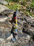 Rainbow Beaded Geode Magic Wand