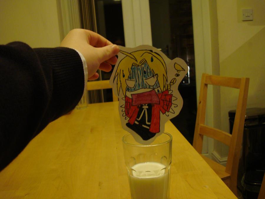 Edward Elric vs Milk by Artist594