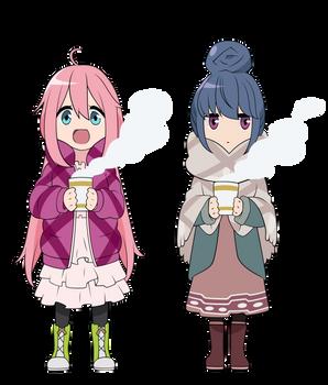 Vector - Yuru Camp - Nadeshiko and Rin