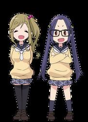 Vector - Yuru Camp - Inuko and Chiaki