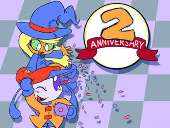 Poppin and Jupa 2 Year Anniversary by inkdragonworks