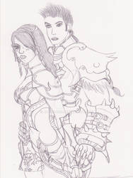 Aitan Dual Gunner and Warrior