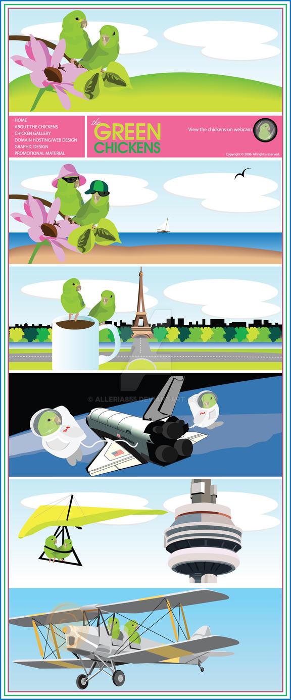 Green Chicken website design by Alleria855