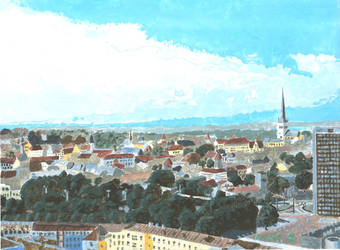 A view of Tallinn from Radisson hotel by archiei