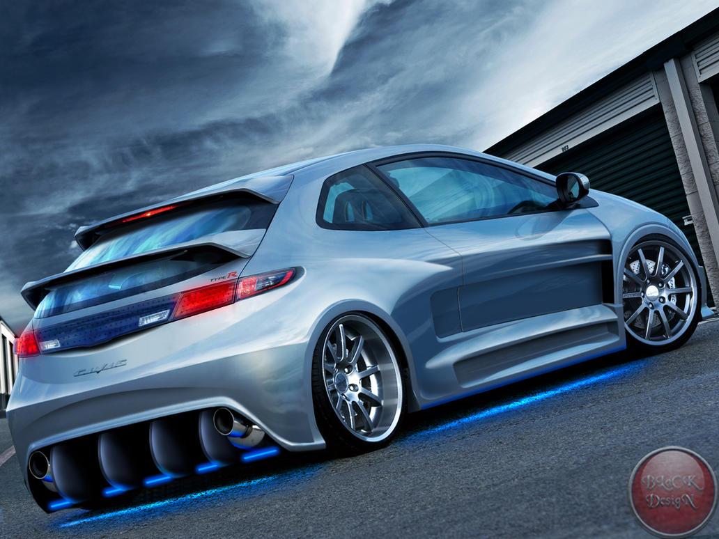 Honda Civic Si Street Tuner By Blackdesign On Deviantart