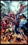 Avenging Spiderman Battle Artist