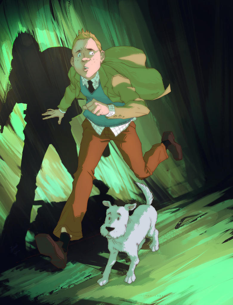 Tin Tin and Snowy by yinfaowei
