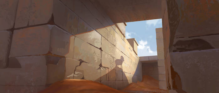 Desert, Shepard and Lost goat