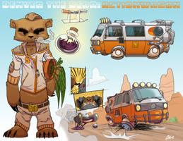 Denver The Bear: Actionwagon