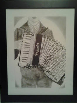 Boy with Accordian finished