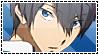 Haruka Nanase Stamp [Free!] by Princess-of-Thorn