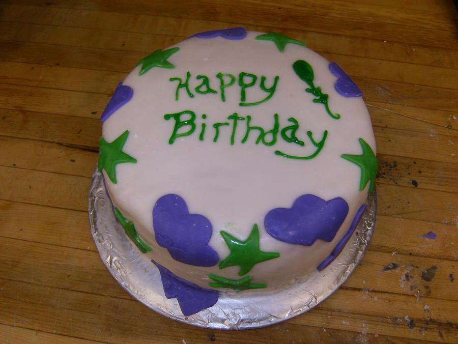 Simple Fondant Birthday Cake by SweetInclinations on DeviantArt